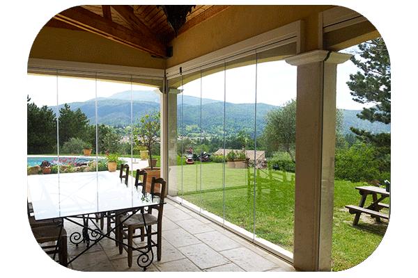 Balcon terrasse verre