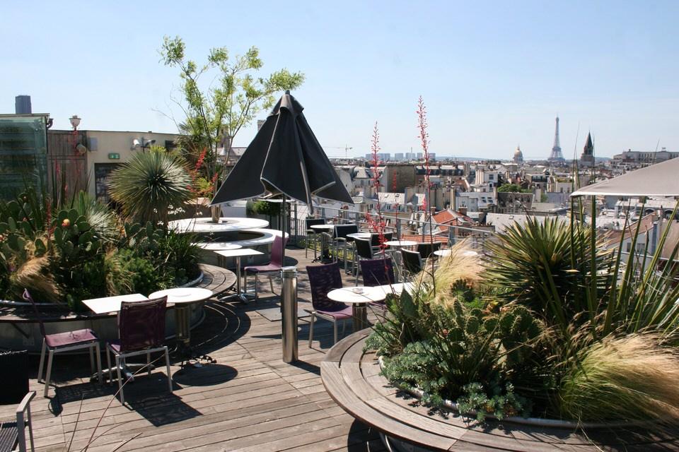 Bar terrasse avec vue paris