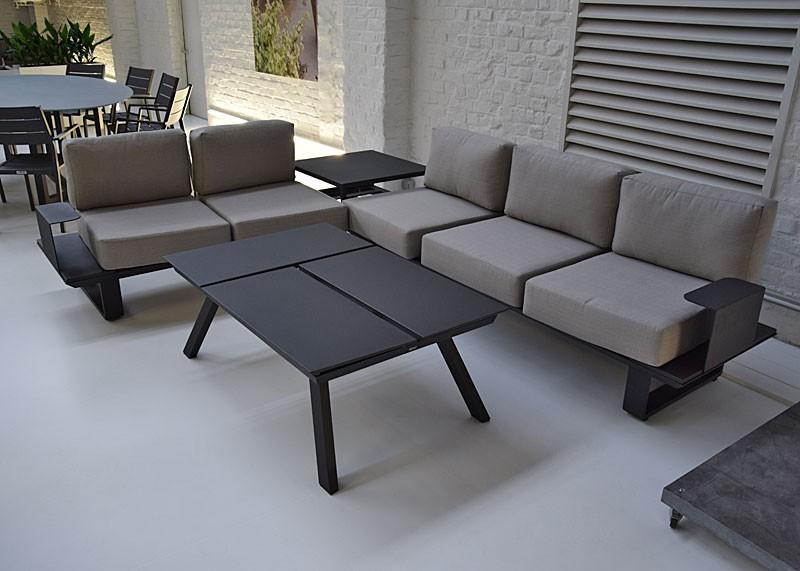Salon de jardin textilene gris