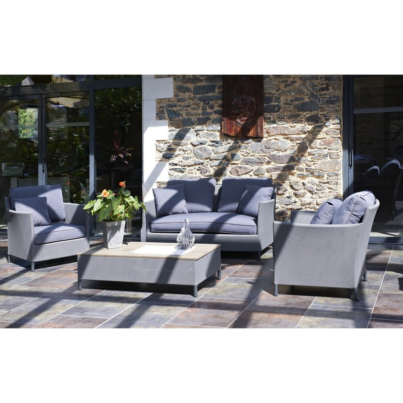 Salon bas de jardin aluminium textilène - Mailleraye.fr jardin
