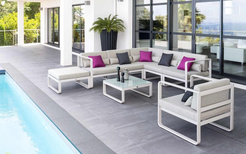 Salon de jardin en aluminium collection canberra