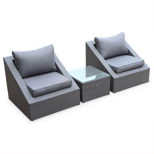 Salon de jardin fauteuils empilables