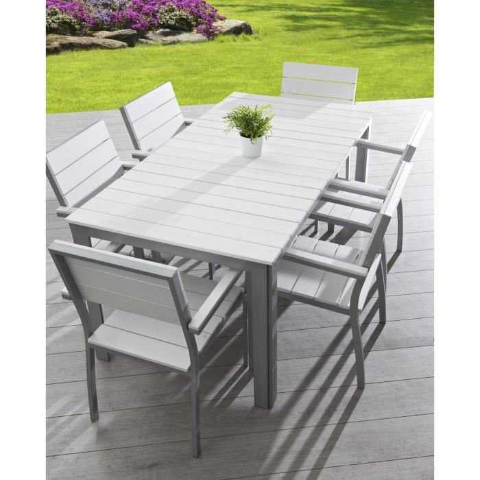Salon de jardin en aluminium composite - Mailleraye.fr jardin