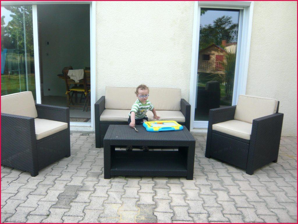 Monaco salon de jardin 4 places aspect rotin tressé ...