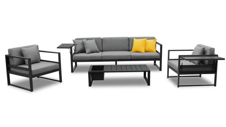 Table basse salon de jardin aluminium - Mailleraye.fr jardin