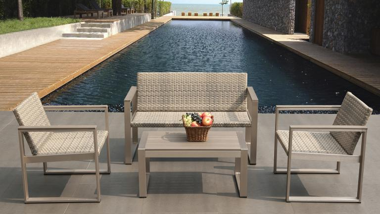 Salon de jardin fauteuil et canape