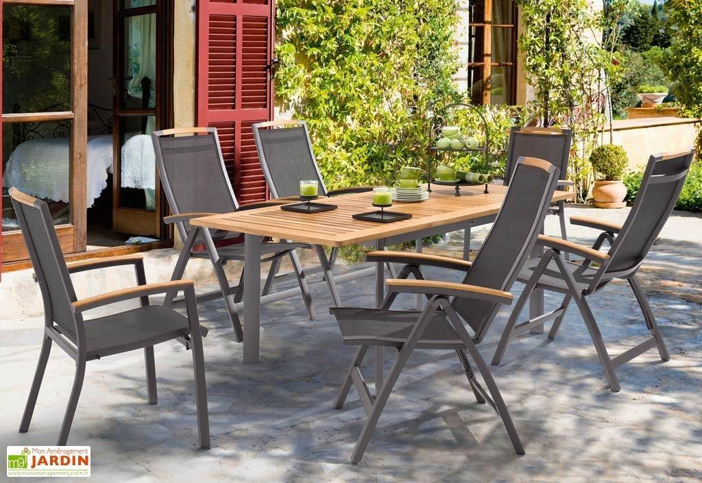 Salon de jardin table et chaise alu - Mailleraye.fr jardin