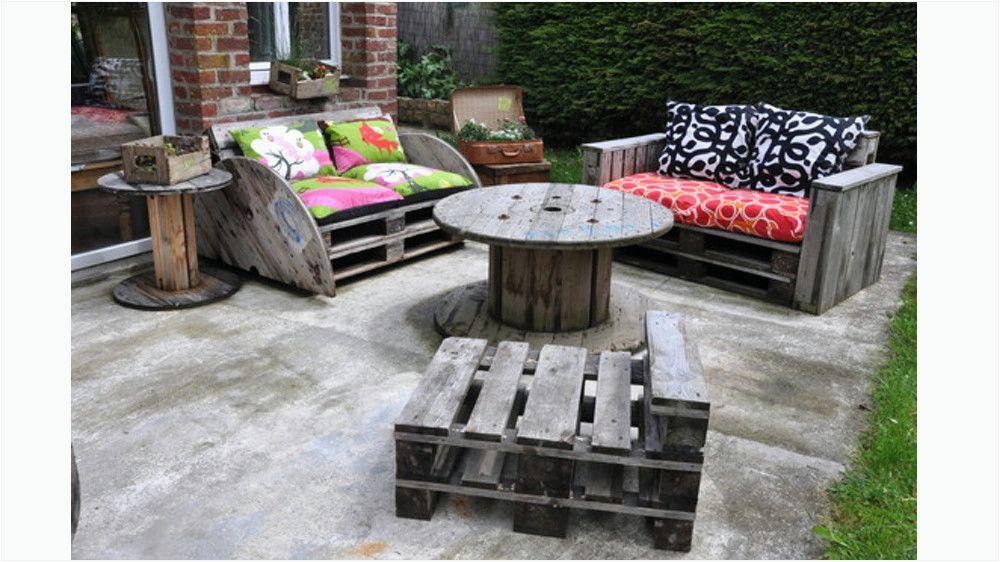 Idee de salon de jardin avec des palettes - Mailleraye.fr jardin