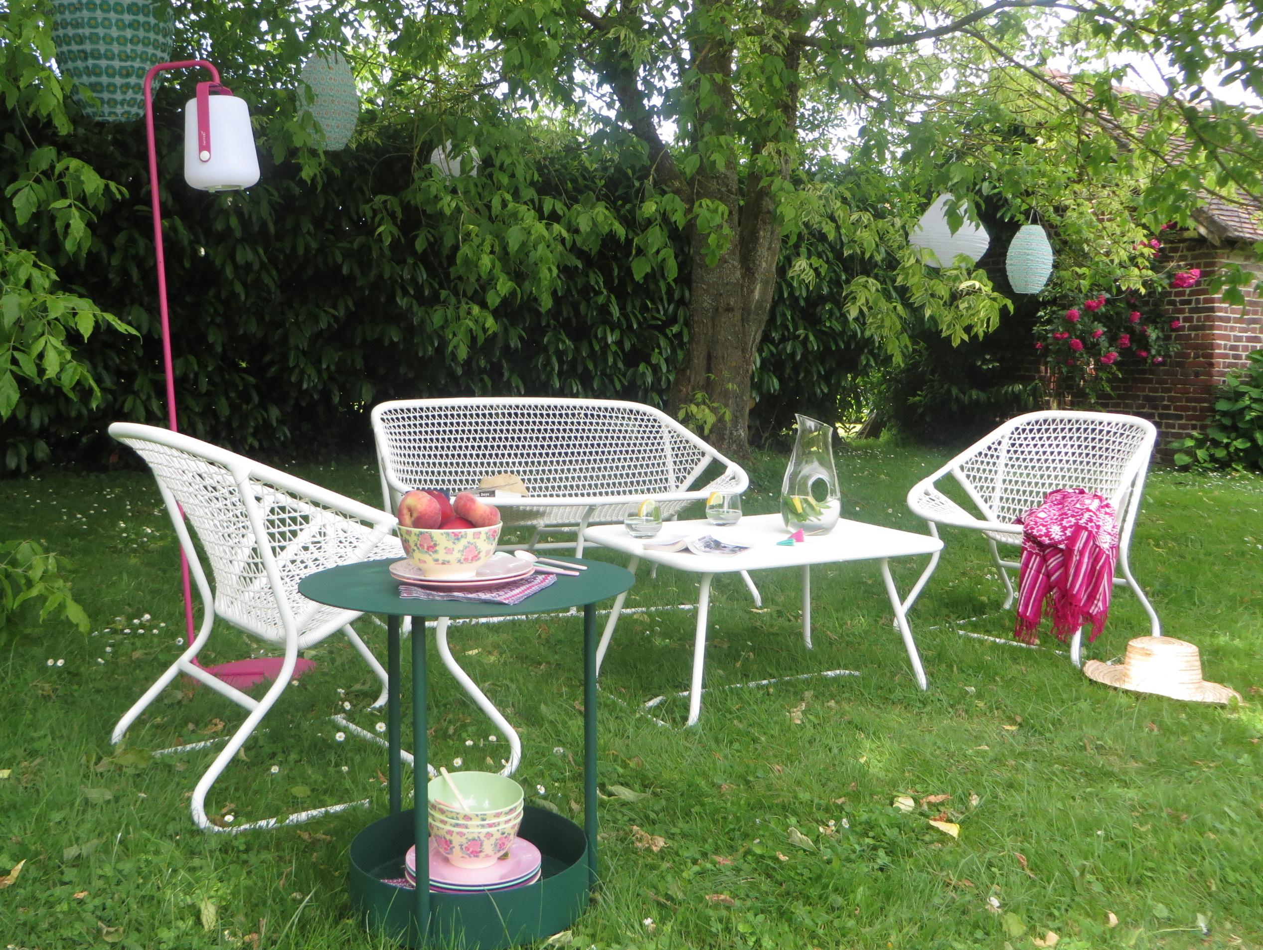 Salon de jardin fermob sixties - Mailleraye.fr jardin