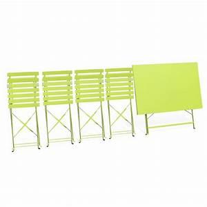 Salon de jardin table pliable + 2x bancs + dossier