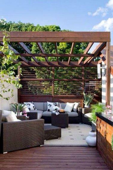 Amenagement terrasse avec brise vue