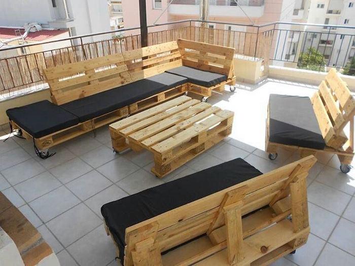 Salon de jardin en bois recyclé - Mailleraye.fr jardin