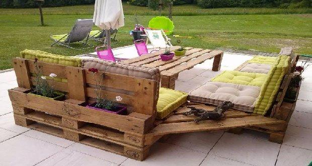 Salon de jardin en bois palette
