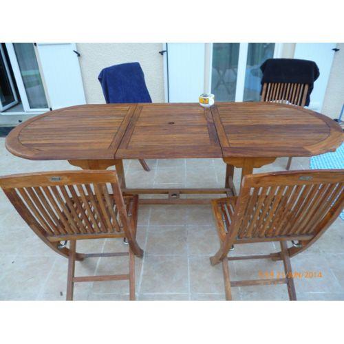 Salon de jardin table et chaises pliantes - Mailleraye.fr jardin
