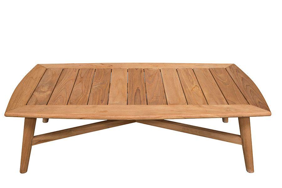 Salon de jardin en teck avec table basse - Mailleraye.fr jardin