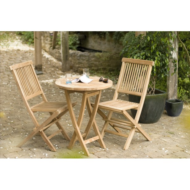 Petite table ronde de salon de jardin - Mailleraye.fr jardin