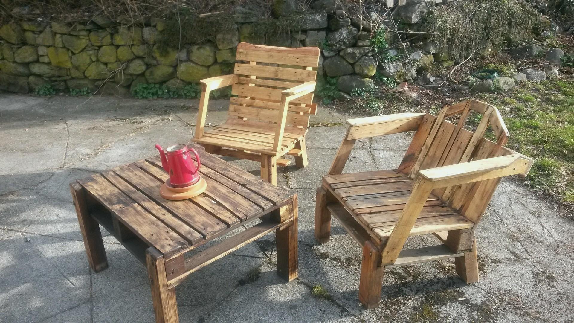 Table de salon de jardin fait maison - Mailleraye.fr jardin