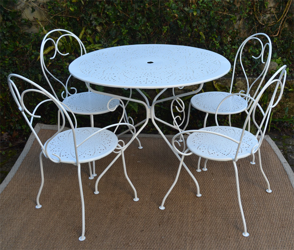 Stunning Table De Jardin Fer Forge Blanc Images - House Design ...
