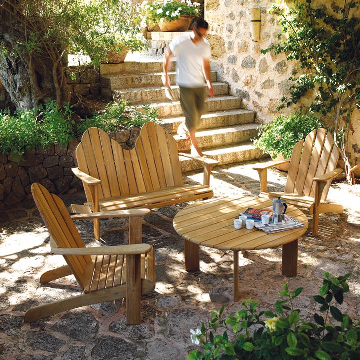 Salon de jardin en teck pliable - Mailleraye.fr jardin