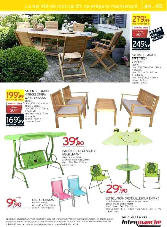 Stunning Salon De Jardin En Teck Intermarche Ideas - House Design ...
