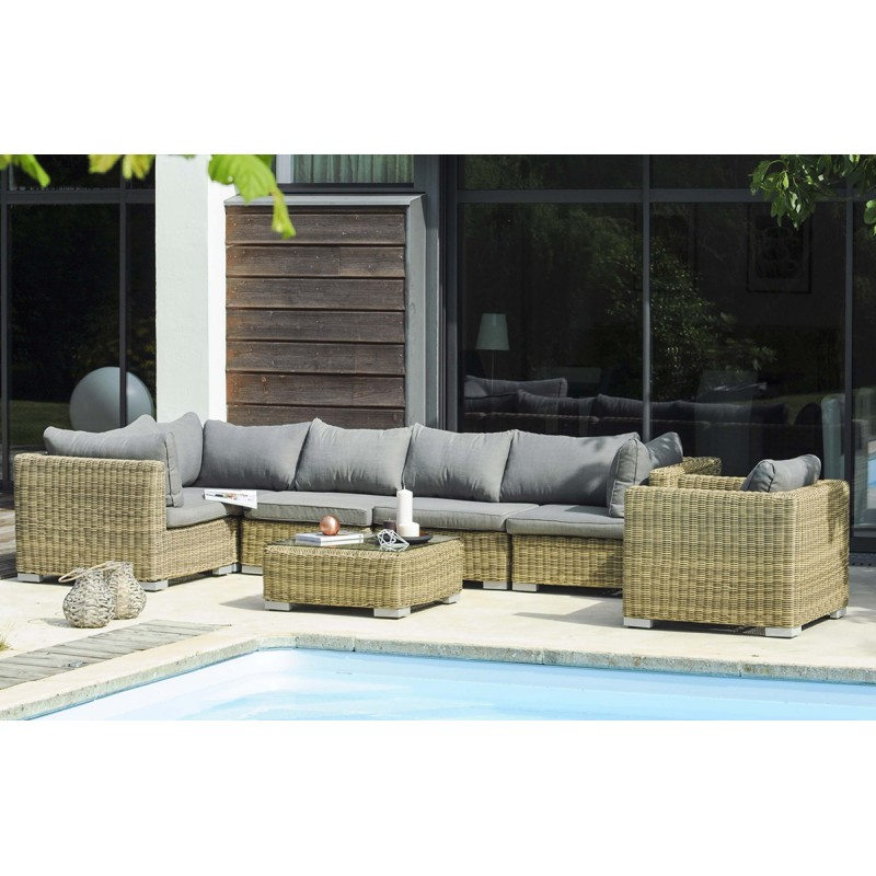 Salon de jardin luxe formentera 5 places - Mailleraye.fr jardin