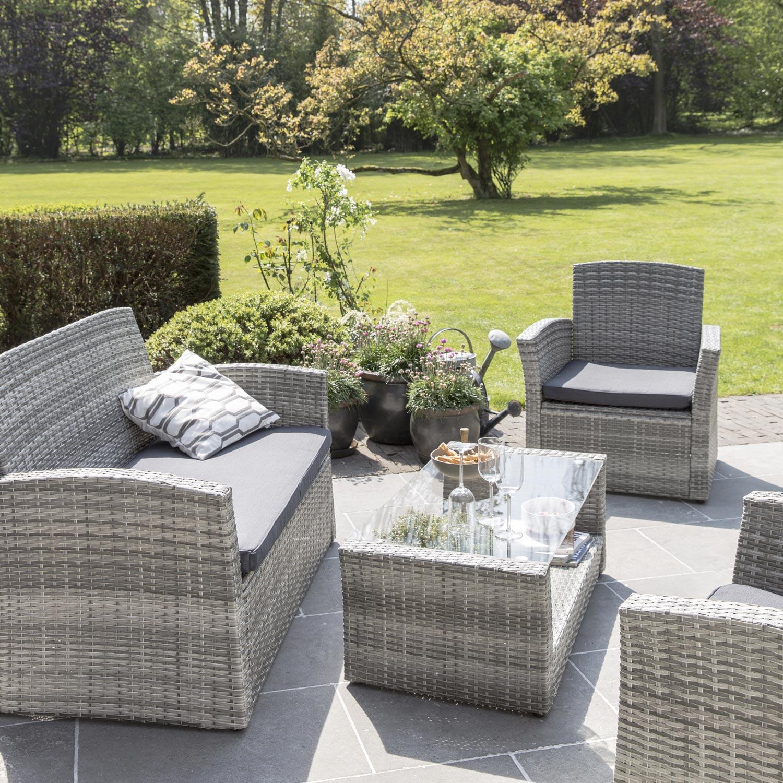 Table salon de jardin tressé - Mailleraye.fr jardin