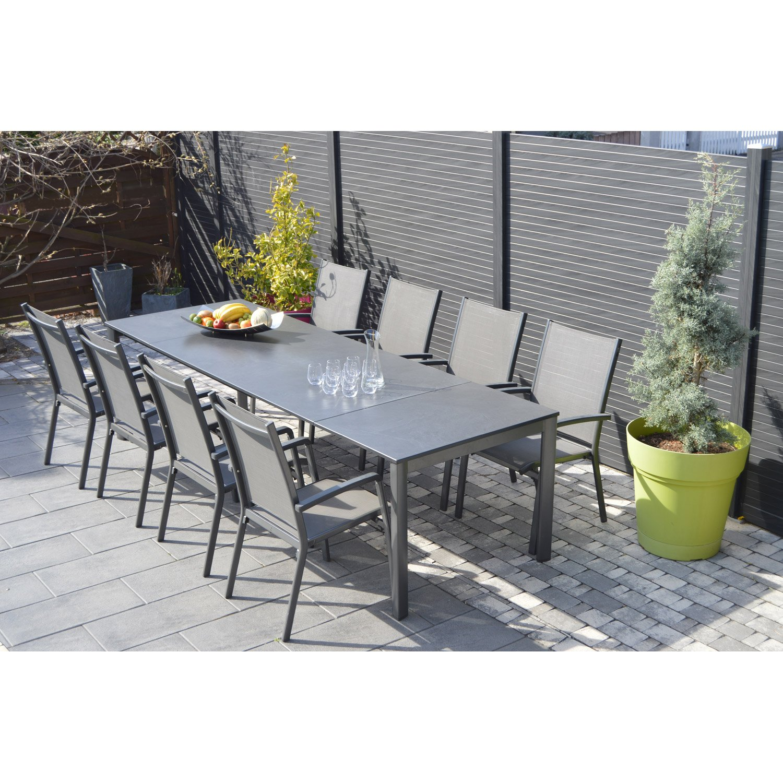 Salon de jardin en aluminium 10 personnes   Mailleraye.fr jardin