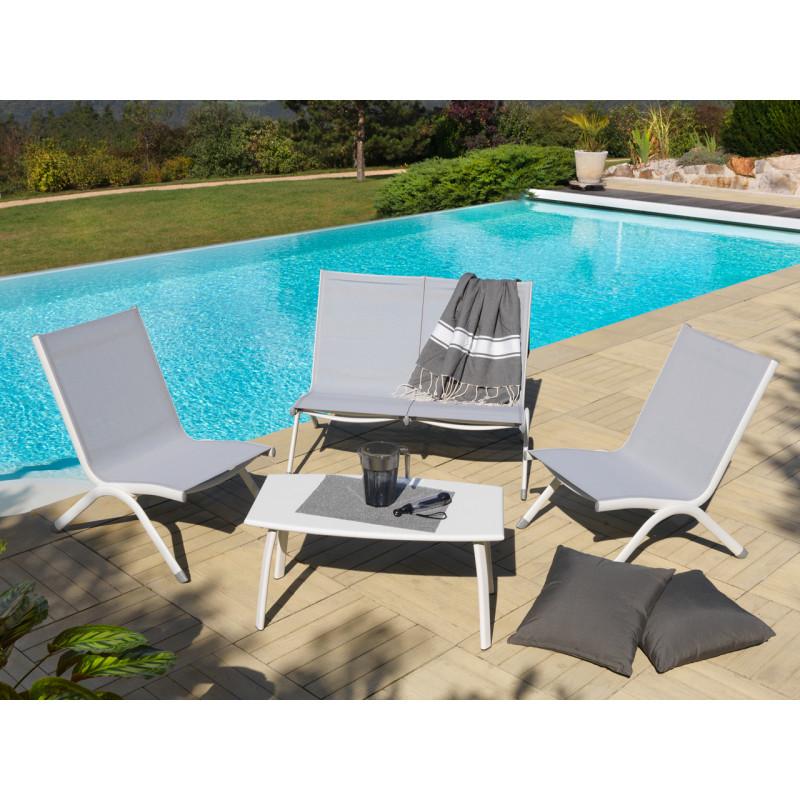Emejing Salon De Jardin Bas Alu Et Textilene Pictures - House Design ...