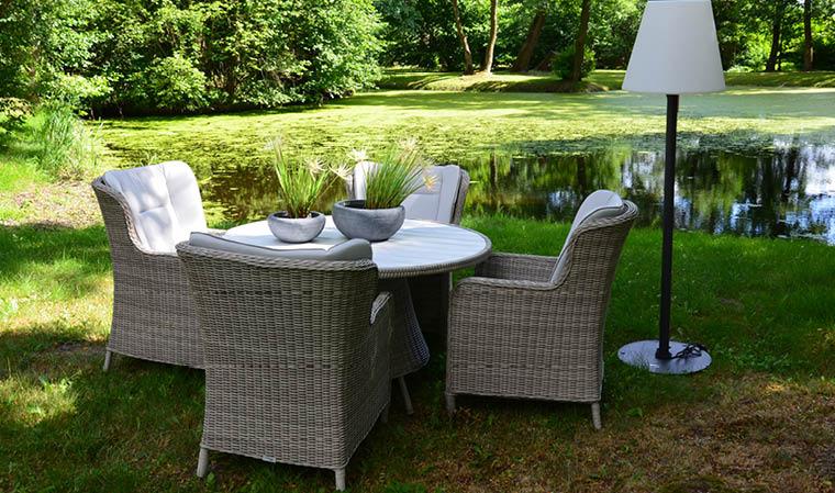 Table de salon de jardin ronde - Mailleraye.fr jardin