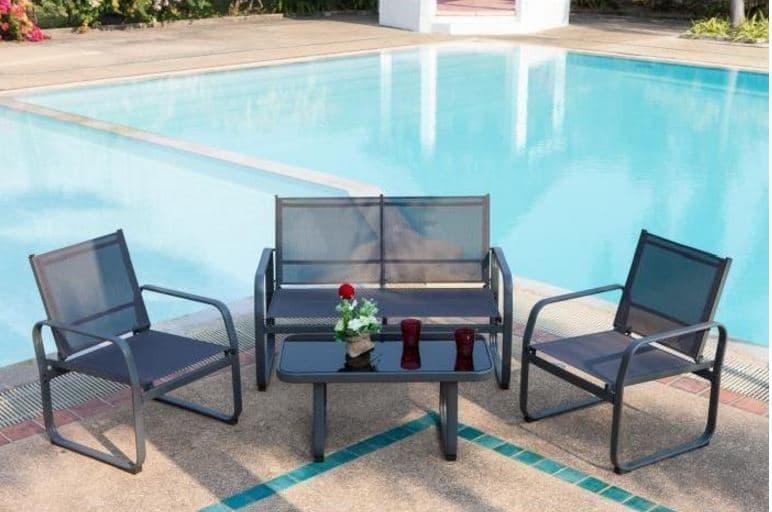 Salon de jardin chaise textilene - Mailleraye.fr jardin
