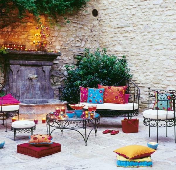 Salon de jardin marocain moderne