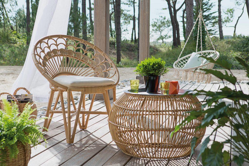 Salon de jardin style osier - Mailleraye.fr jardin