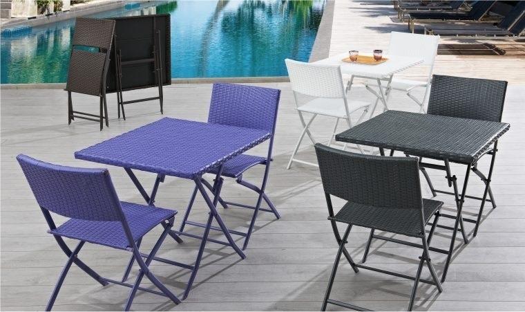 salon de jardin pliant 4 places pas cher. Black Bedroom Furniture Sets. Home Design Ideas