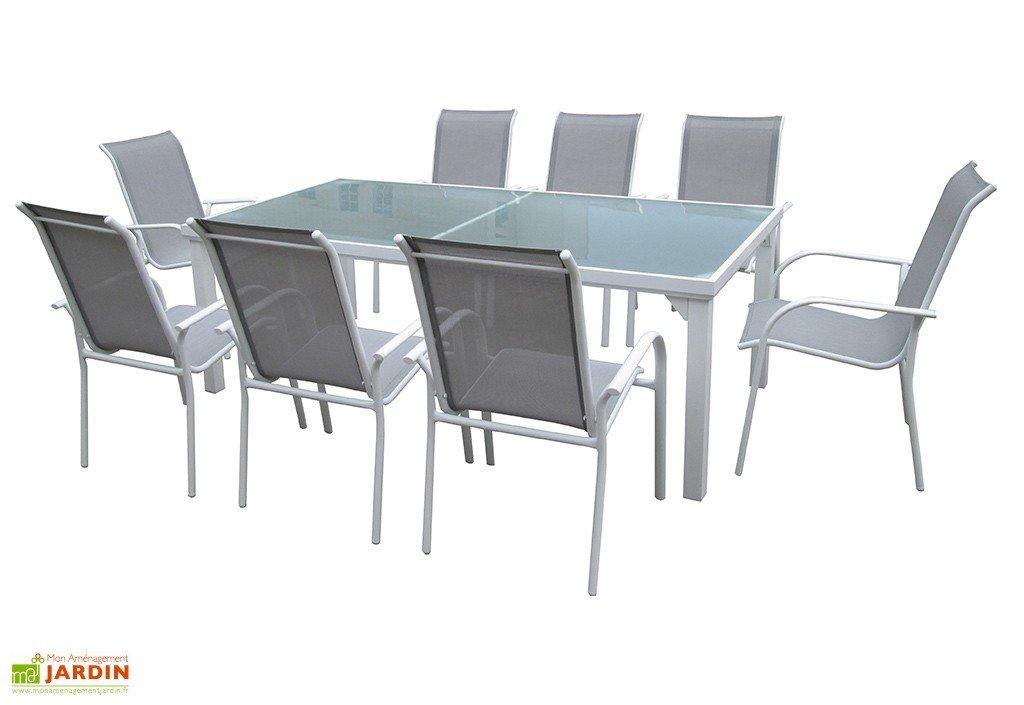 Image table de jardin en verre deco jardin | Cefig