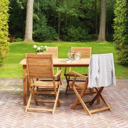 Emejing Table De Jardin Acacia Ou Teck Photos - House Design ...