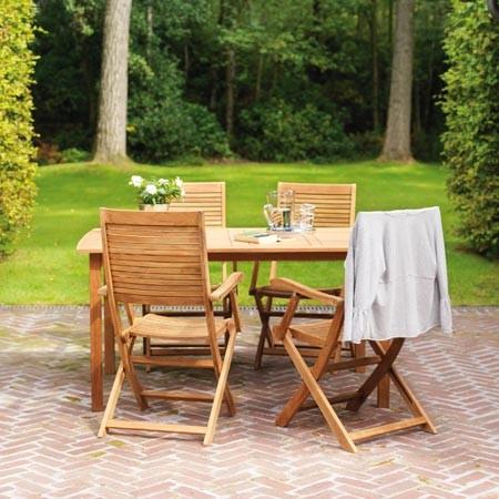 Salon de jardin en bois de teck - Mailleraye.fr jardin