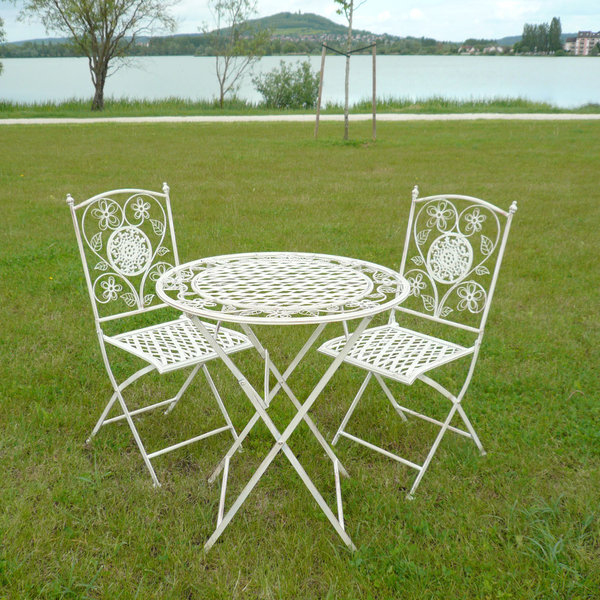 mobilier de jardin en fer forg blanc jardin. Black Bedroom Furniture Sets. Home Design Ideas