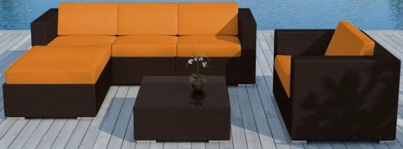 Salon de jardin marron et orange - Mailleraye.fr jardin