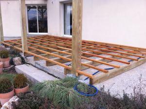 Terrasse bois double structure