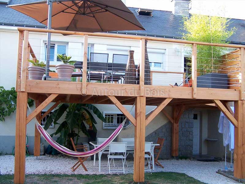 Terrasse en bois sur pilotis devis