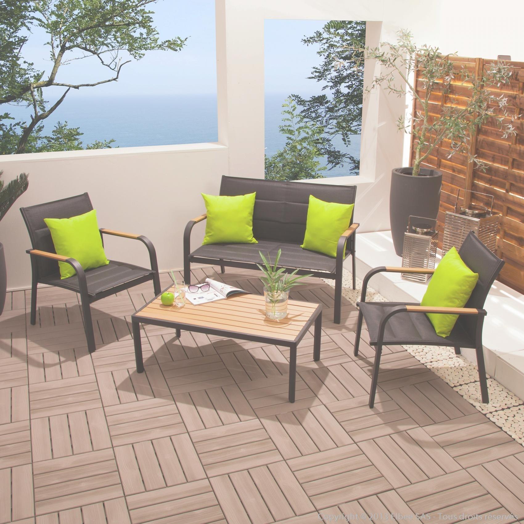 Salon de jardin textilene aluminium - Mailleraye.fr jardin