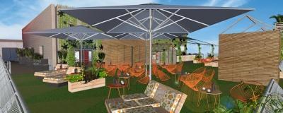 Bar terrasse jardin lyon
