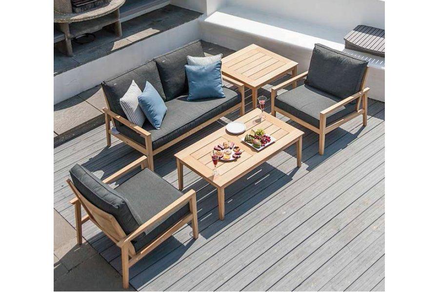 Table basse de salon de jardin en bois - Mailleraye.fr jardin