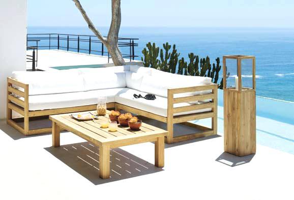 Salon de jardin en bois design - Mailleraye.fr jardin