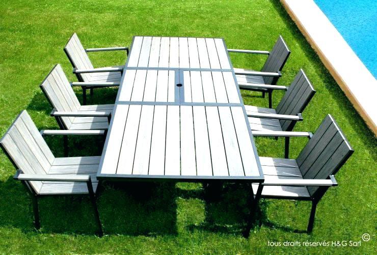 Salon de jardin en bois composite - Mailleraye.fr jardin