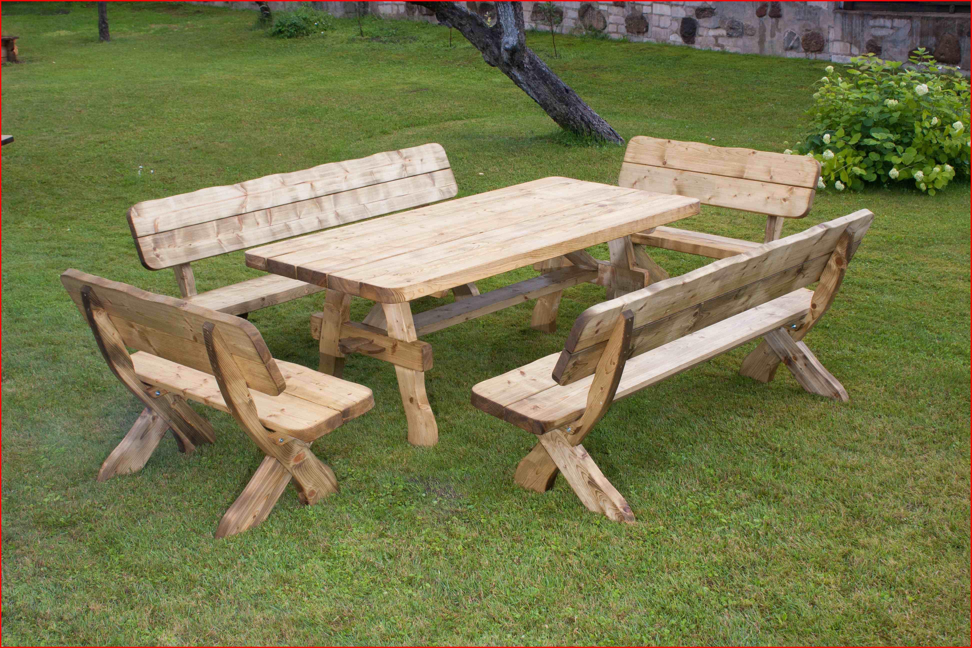 Table de terrasse en bois pas cher