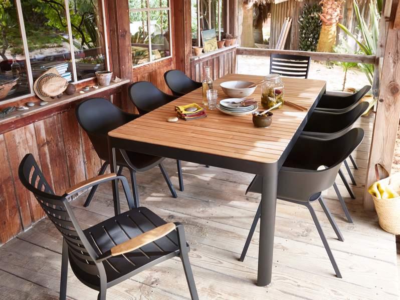 Mobilier de jardin teck et aluminium - Mailleraye.fr jardin