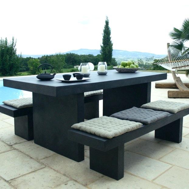 Salon de jardin en beton cellulaire - Mailleraye.fr jardin