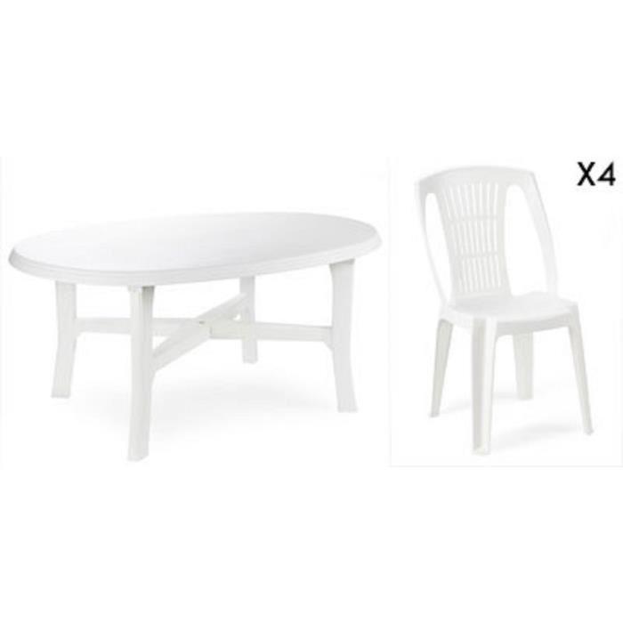 Chaise de salon de jardin plastique - Mailleraye.fr jardin