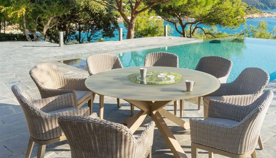 Salon de jardin table ronde extensible - Mailleraye.fr jardin